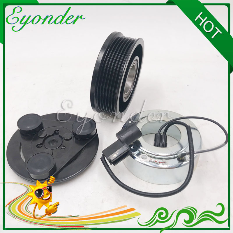 A C Air Conditoning Compressor Electromagnetic Magnetic Clutch PV6 for Mitsubishi GALANT 2 5 V6 AKC200A205AR