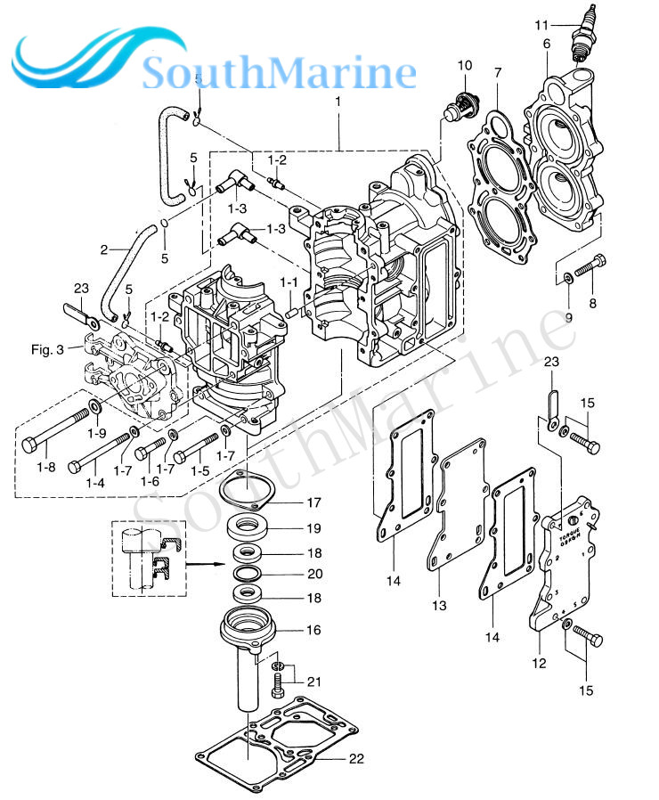 aliexpress com buy outboard engine 3b2 01005 0 3b201 0050m safety equipment diagram aliexpress com buy outboard engine 3b2 01005 0 3b201 0050m cylinder head gasket for tohatsu nissan 2 stroke 6hp 8hp 9 8hp boat motor free shipping from