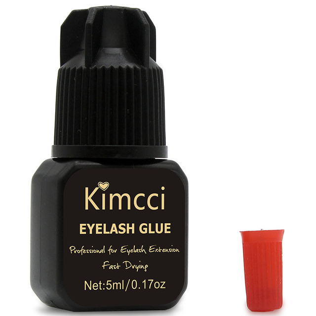 Kimcci 5ml Eyelash Glue 1-3 Seconds Fast Drying Eyelashes Extension Glue Pro Lashes Glue Black Adhesive Retention Long Last 1