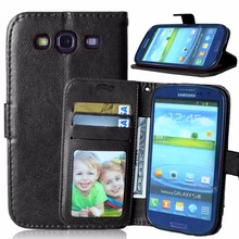 For Samsung Galaxy S3 / S3 Mini Phone Cases Wallet Flip Leather Case for Samsung S3 Neo Duos i9300i with Card Holder Stand Cover