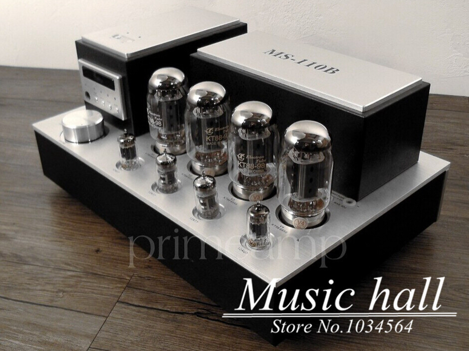 YAQIN MS-110B KT88x4 Vacuum Tube Integrated Amplifier push-pull tube AMP latest version tube amplifier free shipping yaqin ms 110b vacuum tube integrated amplifier brand new