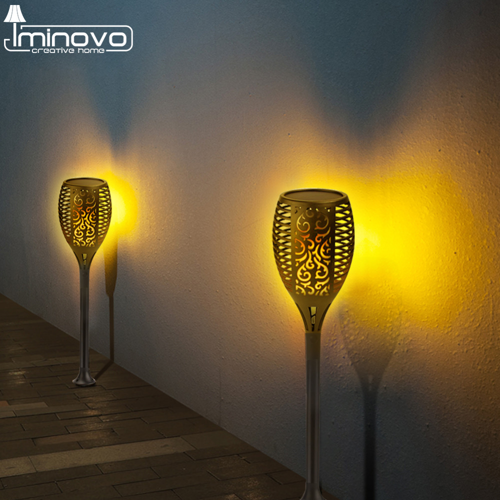 Led Solar Flame Lamp Bulb Flickering Path Lawn Torch