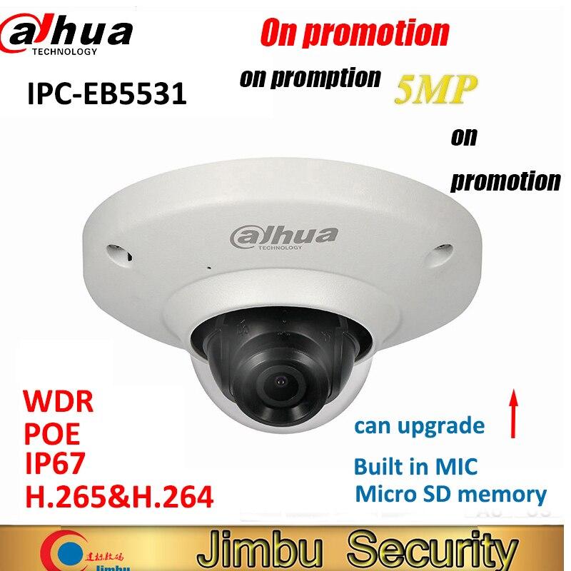 Dahua 5MP IP camera IPC EB5531 Panoramic Network Fisheye IP Camera H 265 1 4mm lens