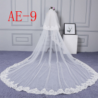ZYLLGF Lace Long Bridal Veil Cathedral Wedding Veils Two Layer Women Bride Veil Bridal Accessories Free Shipping BL34