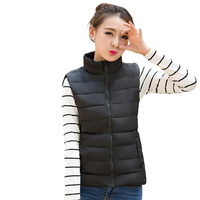 Female Autumn Plus Size Solid Stand Down Parkas Woman Winter Zipper Warm Down Jackets Lady Spring
