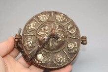 Asian antique Nepal/ Tibet handmade old hand bell ,Diameter 9CM,Traditional Tibetan Copper Bell With a 11 CM box