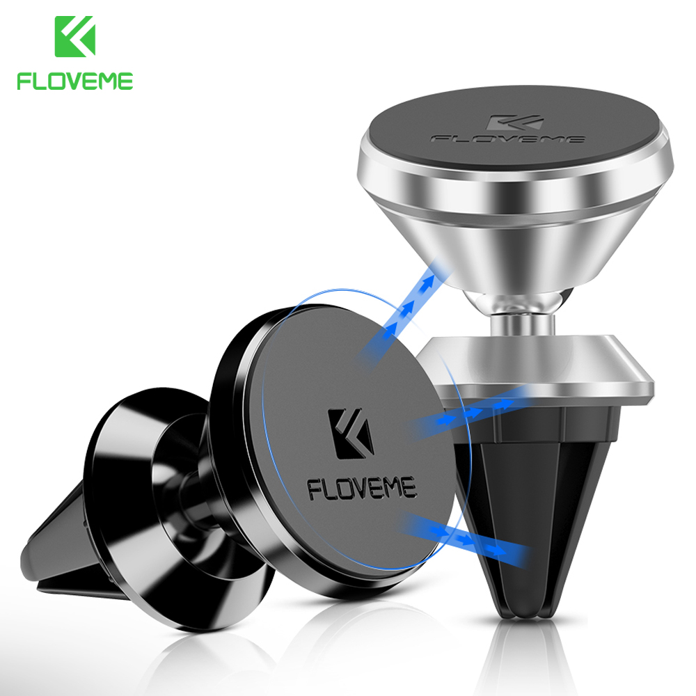 FLOVEME Car GPS Phone Holder For IPhone 7 6 6S Plus 5 5S SE For Samsung Xiaomi Accessories Magnetic Air Vent Outlet Mount Stand