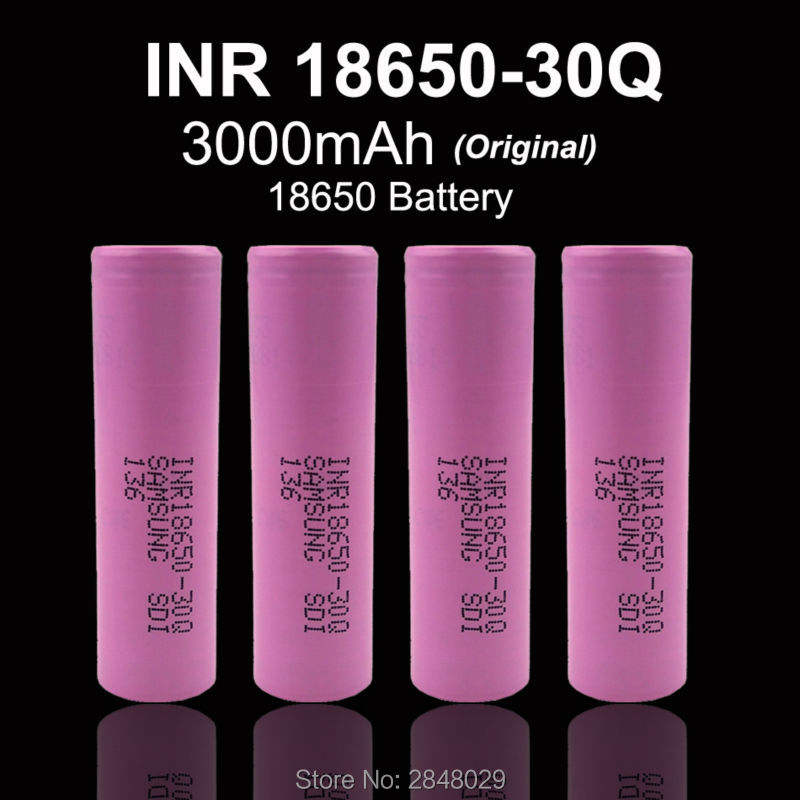 5 PC. New original for <font><b>Samsung</b></font> SDI INR18650-<font><b>30Q</b></font> 3000 mAh 18650 rechargeable lithium battery 15A discharge power is used for elec image