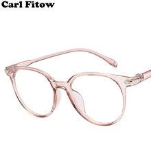 ce95a69d3 2018 الأزياء نظارات نسائية إطار الرجال النظارات الإطار خمر جولة واضح عدسة  النظارات البصرية إطار مشهد