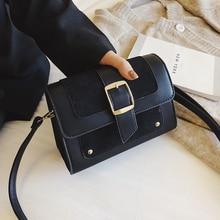 2019 New Women Bag Designer Scrub Handbags Belt Magnetic Buckle Shoulder Bag Crossbody Bags Ladies Messenger Bags LC11 недорого