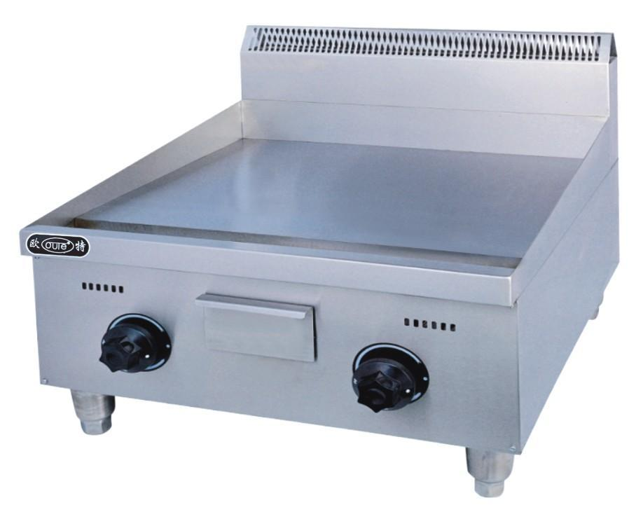 Flat gas cooking griddle panel stainless steel gas food frying catering griddle equipment factory