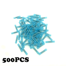 500pcs Insulated Heat Shrink Butt Connectors Wire Electrical Crimp Terminals 16-14AWG Kit Wire waterproof joint between cold wir стоимость