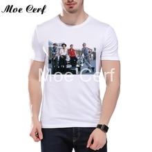 The Clash 1982 Portrait T-shirt Summer Men Funny Photo T Shirts Men Short Sleeve O Neck Punk Fans T-shirt Brand Clothing L12-28