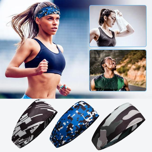HobbyLane Unisex Outdoor Sports Sweat-absorbent Hair Band Antiperspirant Belt Hair Towel Running Yoga Fitness Accessories 4