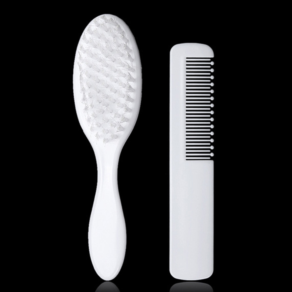 Simple Infant Portable Hair Care Newborn Hair Grooming Baby Comb Brush Massage Scalp Ringworm Remove Soft ABS Baby Care Set in Brushes Combs from Mother Kids