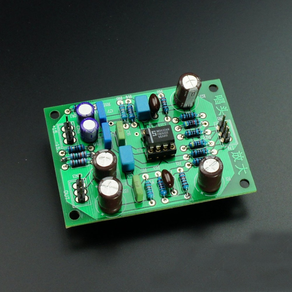 Stereo MM Phono RIAA Amplifier NE5532 Preamplifier Module Base on YBA Circuit HIFI Audio