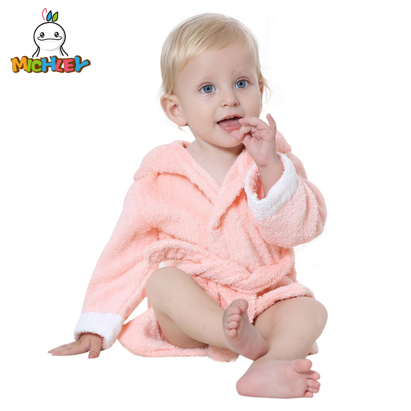 586f60753e MICHLEY Newborn Hooded Sleepwear Boys Cartoon Cute Baby Girls Nightdress  Infant Wrap 100% Quality Spa Pajamas for Toddler JY024-in Robes from Mother    Kids ...
