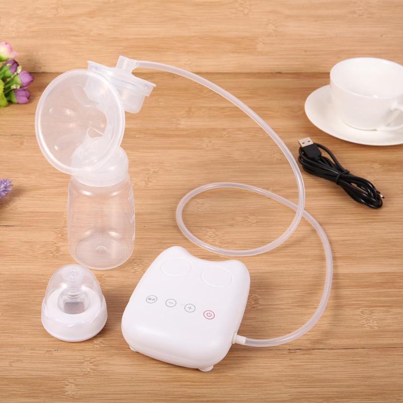Мощный соска всасывания молокоотсосы USB Электрический молокоотсос с 150 мл бутылки молока BPA бесплатно грудного вскармливания