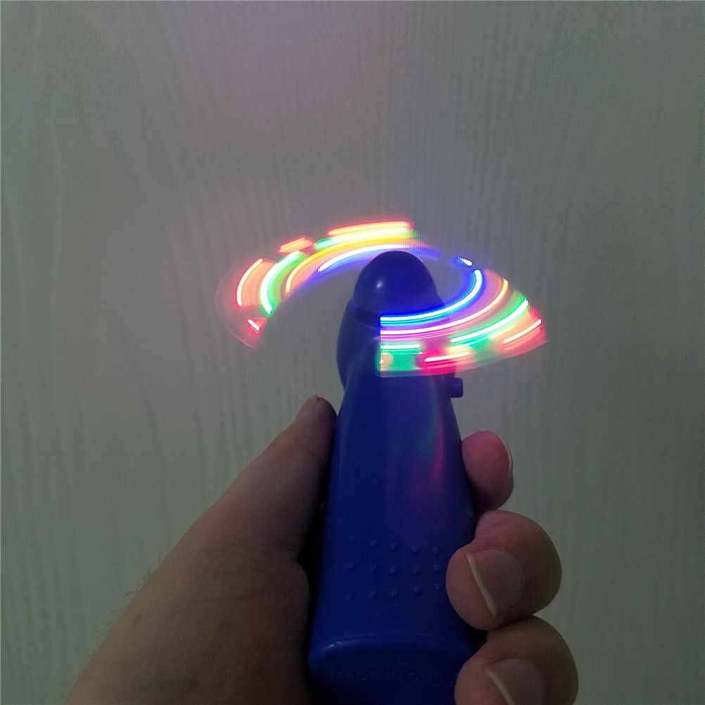 Пластик LED Цвет вентилятор матрица Портативный мини-прохладный воздух вентилятор зеленый синий свет до Игрушечные лошадки