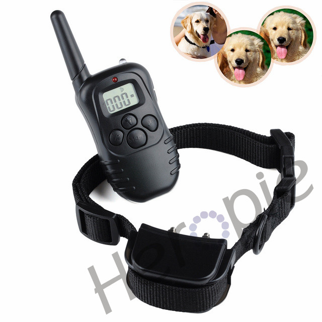 HEROPIE 300 Yard Waterproof Rechargeable Pet Dog Training Collar 100LV Shock Vibration Dog behavior Training collars