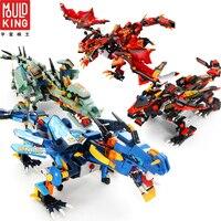 MOULD KING RC Anime Action Figure Remote Control Legoing Ninjago Mech Dragon Building Blocks Technic Toys Children Gift Bricks