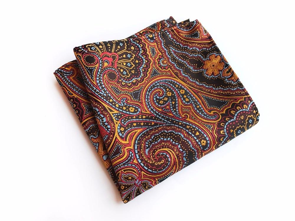 25*25 Cm Men Silk Satin Pocket Square Wedding Party Luxury Handkerchief