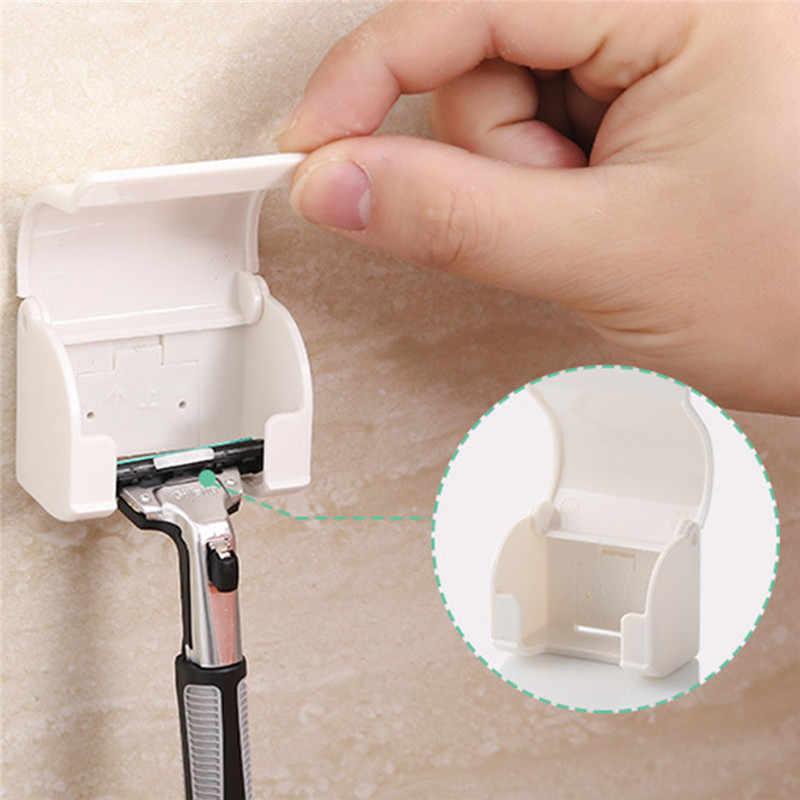 Basupply 1 Pc nowy golarka uchwyt ścienny do montażu na ścianie łazienki maszynka do golenia Razor uchwyt na Cupula Shaver czapka wieszak na ręczniki łazienka akcesoria