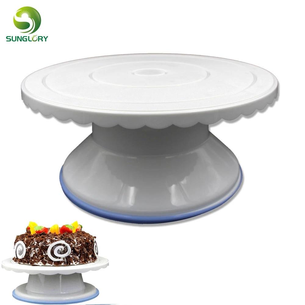 Non-slip Cake Turntable Decorating Stand Revolving Platform Tools Set