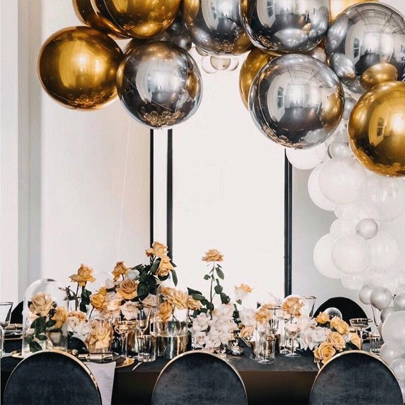 NY 4D Rose Gold Foil Ballon Födelsedag Helium Ballonger Party Balony - Semester och fester - Foto 2