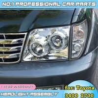 Car Styling Case for Toyota Prado 2700 3400 LC90 Headlight LED Headlight DRL Hid Head Lamp Angel Eye Bi Xenon Beam Accessories
