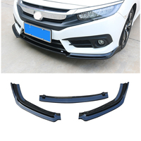 Front Bumper Cover Lip Spoiler Trim Moulding Protector For Honda Civic 2016 2017 2018 Auto Car Plastic Decoration Accessories