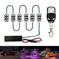 12V 6x6 Auto Roof Light Kit LED Neon RGB Decorative Lamp Remote Control For Car Motorcycle