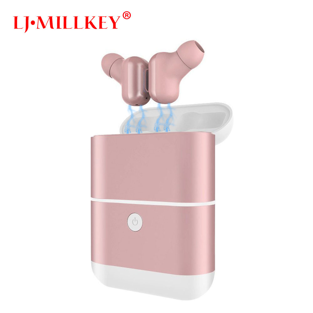 Bluetooth Earphone True Wireless Stereo Earbud Waterproof Bluetooth Headset for Phone HD Communication Portable LJ-MILLKEY YZ130 morul u5 plus wireless bluetooth earbud earphone bt 4 1 waterproof