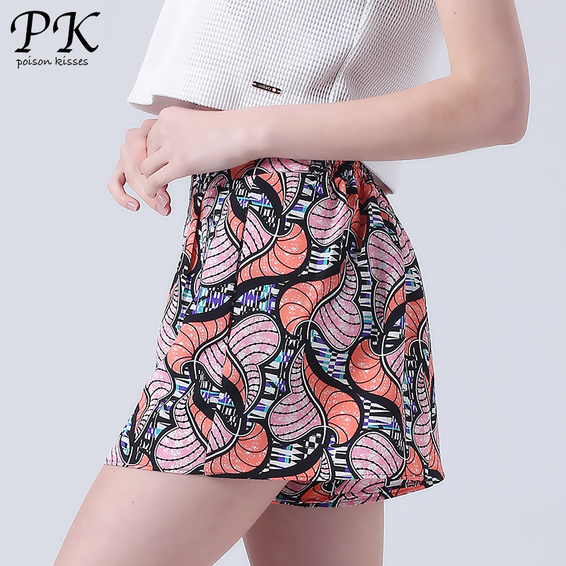 PK print summer shorts women beach board femme elastic boardshorts african print womens summer shorts girls skort skirt mujer