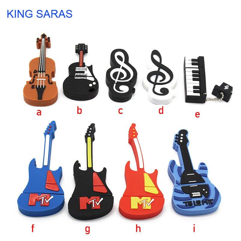 KING SARAS 64GB USB Stick 9model New Type Musical Instrument USB Flash Drive Pen Drive 4GB 8GB 16GB 32GB Usb2.0 Memory Stick