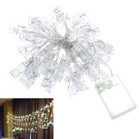 High Quality Clip Battery Operated Decorative 40 LED Light Ropes And Strings For Indoor Outdoor House
