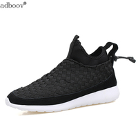 True Cow Leather With Handwork Knitting Model Mens Spring Shoes Light Hand Made Weave Style Man