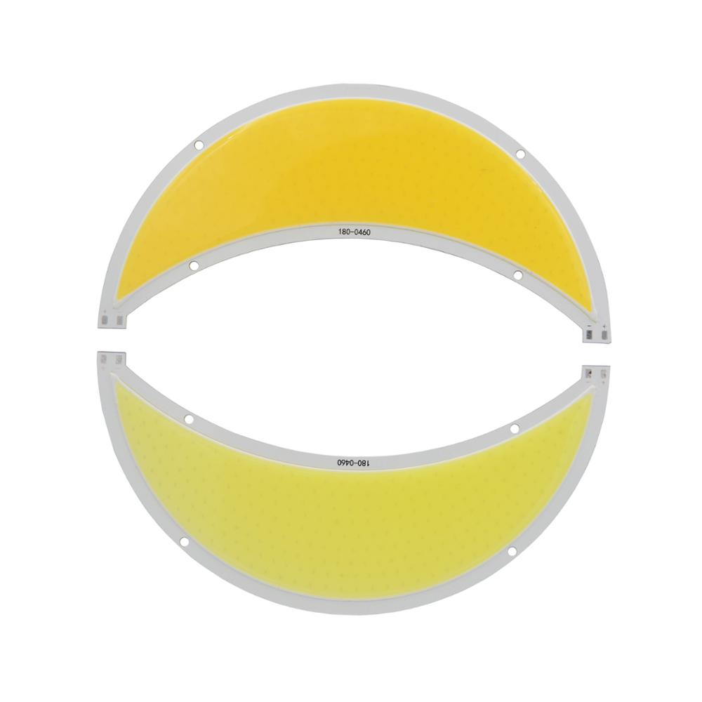 Купить с кэшбэком 5PCS Moon shape  High Power chip on board 12V DC outdoor 100W 180mm White Warm White LED cob FLIP Chip for 12V light