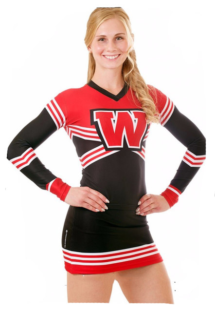 Cheerleader Uniform Cheerleader Outfit Custom Your style Long Sleeve Style with A Skirt Sport Outfit  sc 1 st  Aliexpress & Online Shop Cheerleader Uniform Cheerleader Outfit Custom Your style ...
