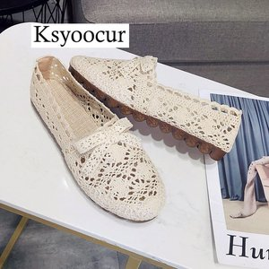 Image 4 - Brand Ksyoocur 2020 New Ladies Flat Shoes Casual Women Shoes Comfortable Round Toe Flat Shoes Spring/summer Women Shoes X01