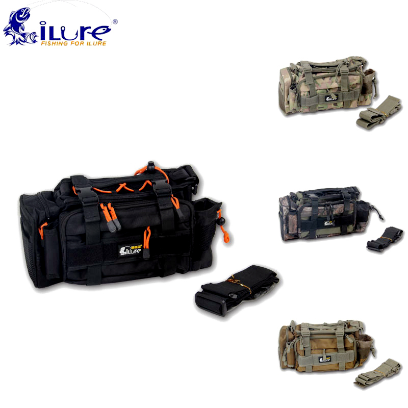 цена на .iLure Fishing Waist Bags Multifunctional Outdoor Fishing Tackle Bagpack Waterproof Belt Maneuver Bag Bolsa Tools Pesca