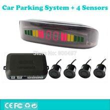 Sistema de Ayuda de Aparcamiento con 4 Sensores de Aparcamiento LED de Colores Pantalla Digital