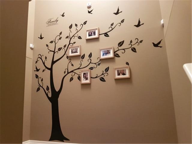 Family Large Photo Tree Wall Art Sticker 250x200cm PVC 3D Decals ...