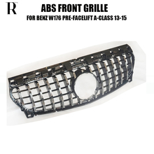 A45 ABS GT Style Front Bumper Mesh Grill Grille for Benz W176 A180 A200 A260 AMG 13 - 18 ( Not Include Centre Star logo )