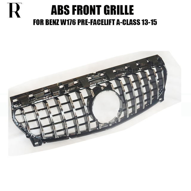 A45 ABS GT Style Front Bumper Mesh Grill Grille for Benz W176 A180 A200 A260 A45 AMG 13 - 15 ( Not Include Centre Star logo )