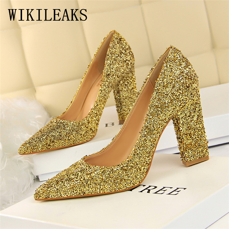 designer Square heel bigtree shoes woman luxury brand wedding shoes fetish  high heels women shoes bling party sexy pumps scarpin-in Women s Pumps from  Shoes ... 2507eabb5769