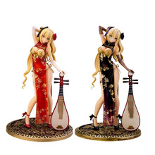AlphaMax SKYTUBEนุ่มหน้าอกแฟนตาซีGolden Lotus Cheongsam Plum GoldenแจกันขวดPvc Action Figure Collectible Figures