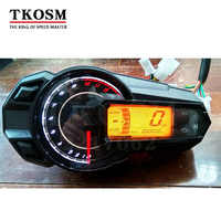 TKOSM 2018 New LED Backlight Motorcycle Speedometer Odometer Tachometer Kmh  MUniversal Motorcycle Speedometer Sensor 12000RPH