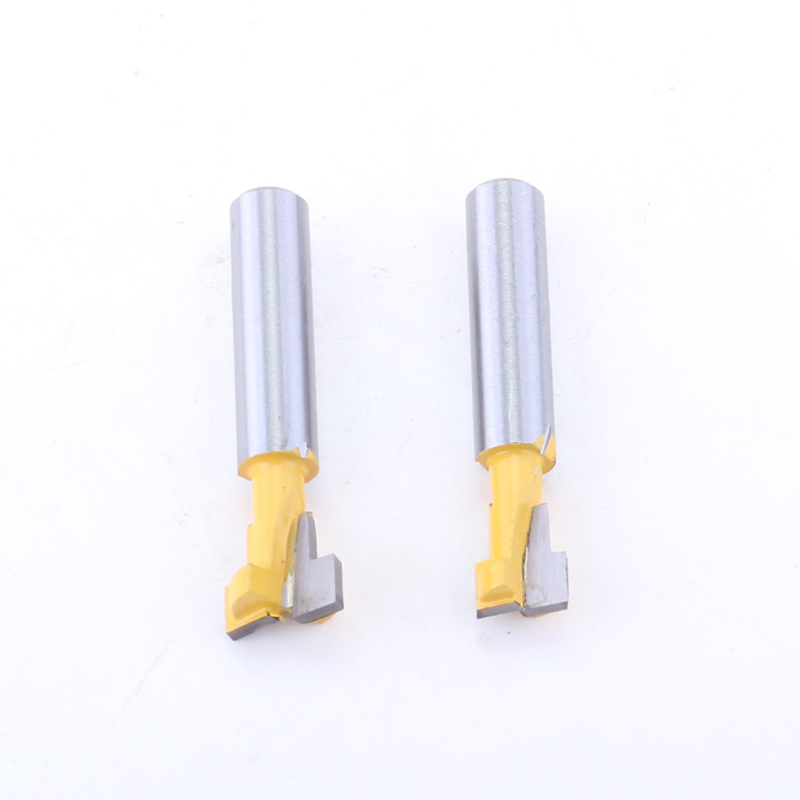 2PC 8mm Shank T Slot Cutter Router Bit for 1 4 quot Hex Bolt 9 52 12 7mm Diameter Wood Cutting Tool in Milling Cutter from Tools