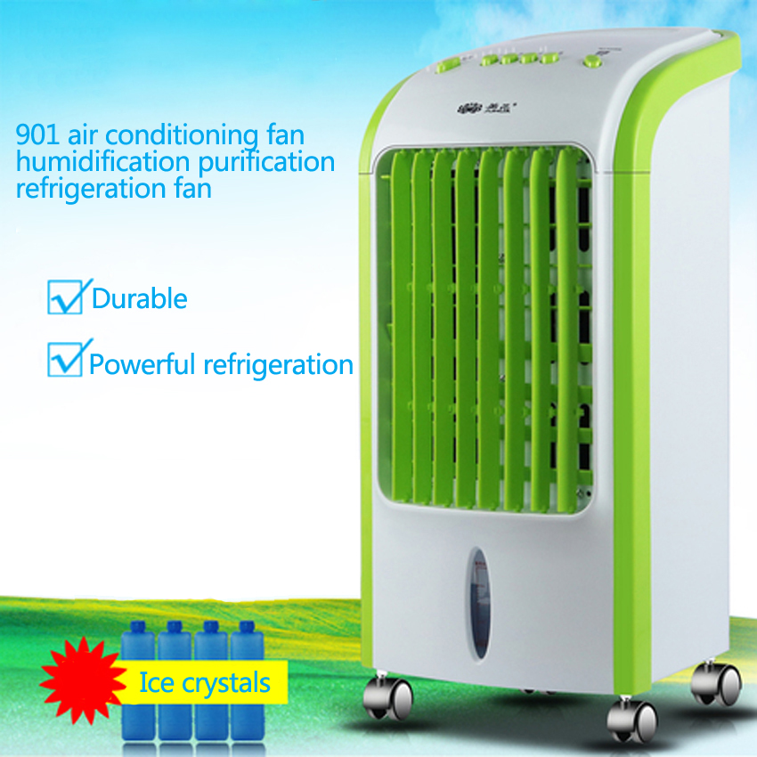 1PC 70W Electric air-conditioning fan conditioning fan single cold type air humidification cooling fan